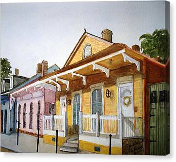 St. Ann Street Scene - French Quarter Canvas Print