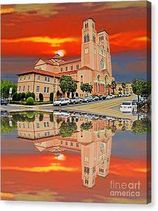 St Anne Church Of The Sunset In San Francisco With A Reflection  Canvas Print by Jim Fitzpatrick