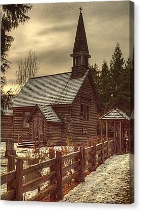 St Anne's Church In Winter Canvas Print by Randy Hall