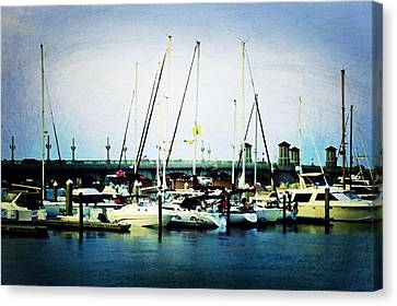 St. Augustine Sailboats Canvas Print by Laurie Perry