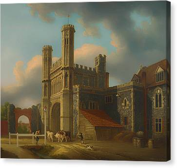 Cattle Dog Canvas Print - St Augustine's Gate Canterbury by Mountain Dreams
