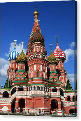 St. Basil's Cathedral Canvas Print by Laurel Talabere