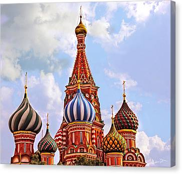 St. Basil's Cathedral - Moscow - Russia Canvas Print by Madeline Ellis