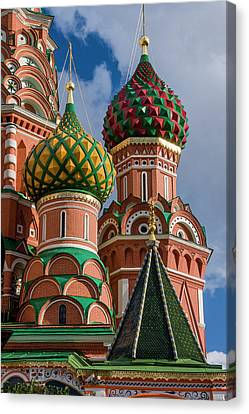 St Basil's Cathedral Red Square Unesco Canvas Print by Tom Norring