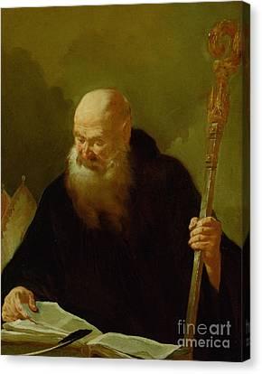 St. Benedict Canvas Print by Giambattista Piazzetta