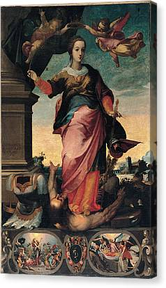 St Catherine Of Alexandria, 1570 - 1611 Canvas Print by Il Sozzo