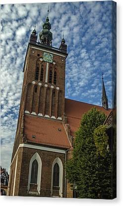 St. Catherine's Church In Gdansk Canvas Print by Adam Budziarek