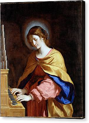 St Cecilia Canvas Print by Guercino