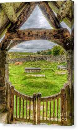 St Celynnin Graveyard Canvas Print by Adrian Evans