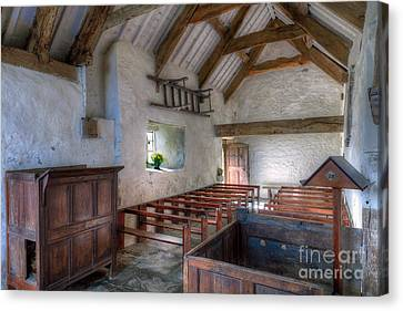 St Celynnin Interior Canvas Print by Adrian Evans