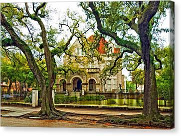 St. Charles Ave. Mansion Paint Canvas Print by Steve Harrington