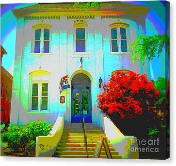 St. Charles County City Hall Painted Canvas Print