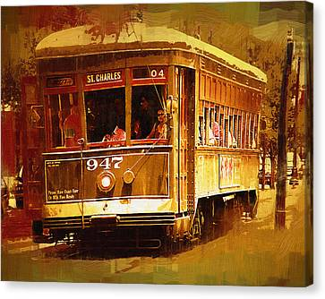St Charles Street Car Canvas Print by Kirt Tisdale