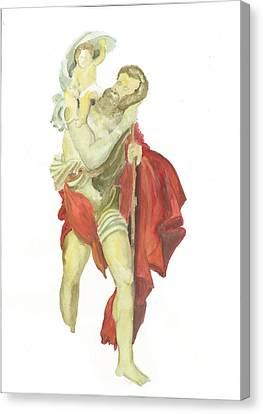 St. Christopher 2  Canvas Print by Marko Jezernik