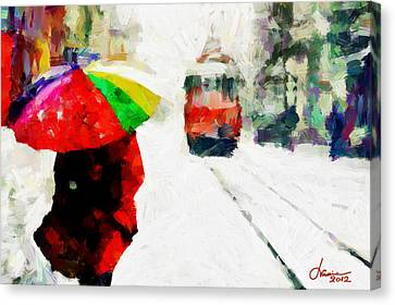St. Clair Street Tnm Canvas Print by Vincent DiNovici