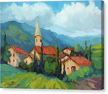 St. Colombe Provence Canvas Print by Diane McClary