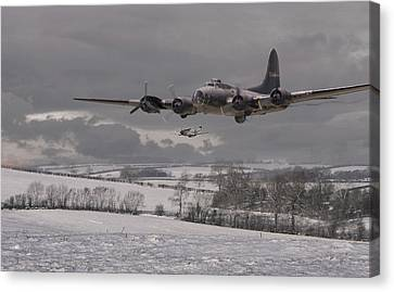 B17 Canvas Print - St Crispins Day by Pat Speirs
