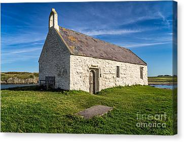 St Cwyfan Church Canvas Print by Adrian Evans