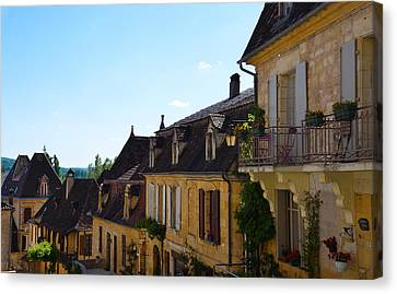 Canvas Print featuring the photograph St Cyprien En Perigord by Dany Lison