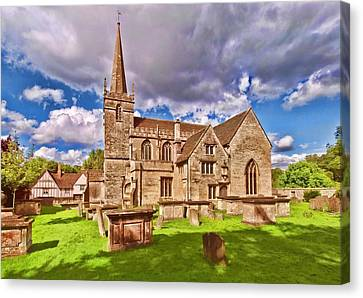 Canvas Print featuring the photograph St Cyriac Church Lacock by Paul Gulliver