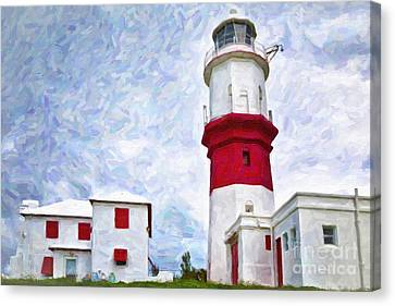 Canvas Print featuring the photograph St. David's Lighthouse by Verena Matthew