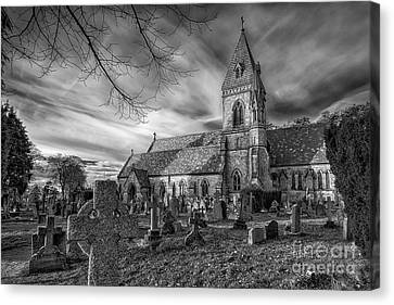 St David's Pantasaph Canvas Print by Adrian Evans