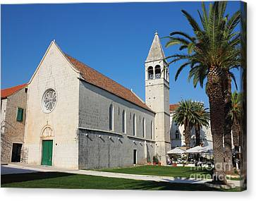 St Dominic Monastery In Trogir Canvas Print by Kiril Stanchev