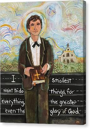 Saint Dominic Canvas Print - St Dominic Savio by Jen Norton