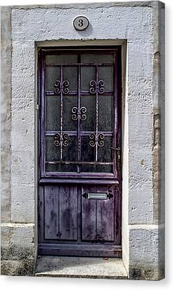 St Emilion Door Canvas Print by Georgia Fowler