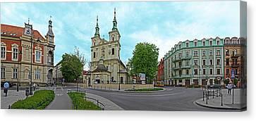 St. Florians Church At Matejko Square Canvas Print