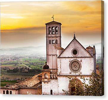 St Francis Of Assisi Church At Sunrise  Canvas Print by Susan Schmitz