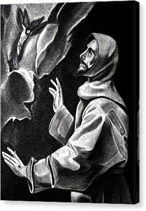 St Francis Of Assisi Canvas Print by Enrique Garcia