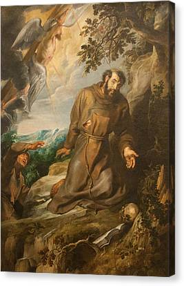 St. Francis Of Assisi Receiving The Stigmata Canvas Print by Peter Paul Rubens