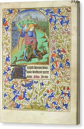 St George And The Dragon Canvas Print by British Library