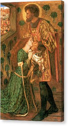 St George Canvas Print - St George And The Princess Sabra by Dante Gabriel Rossetti