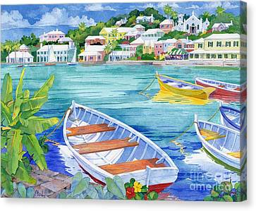 St George Harbor Canvas Print by Paul Brent