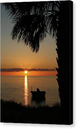 St. George Island Sunset Canvas Print by Lynn Jordan