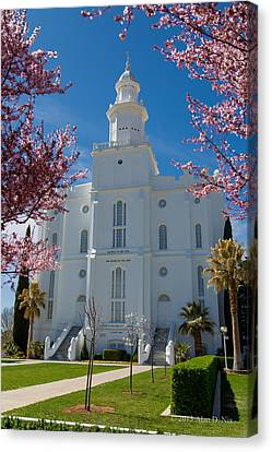 St. George Temple Canvas Print - St George Temple 5 by Alan Nix