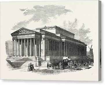 St George Canvas Print - St. Georges Hall, Liverpool, Principal Front by English School