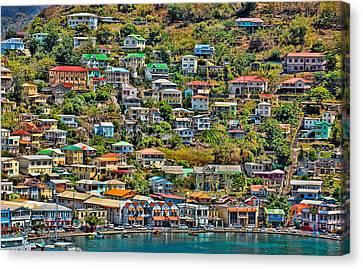 St. Georges Harbor Grenada Canvas Print
