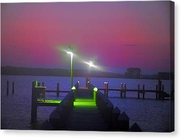 St. Georges Island Dock - Just Before Sunrise Canvas Print