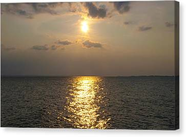 St George's Island Sunset Canvas Print by Bill Cannon