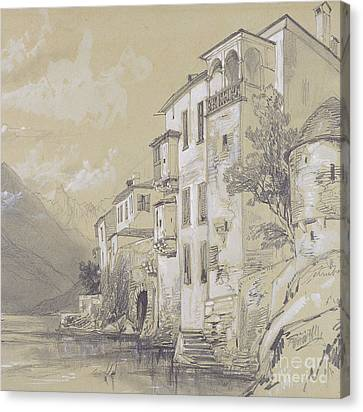 St Giulio Orta Canvas Print by Edward Lear