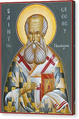 St Gregory The Theologian Canvas Print by Julia Bridget Hayes