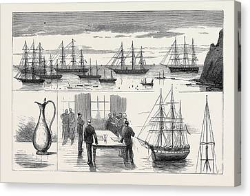 St. Helena The Detached Squadron At Anchor Canvas Print by English School