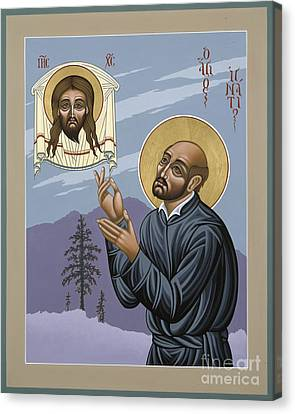 Canvas Print featuring the painting St. Ignatius Amidst Alaska 141 by William Hart McNichols