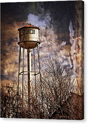 St. Jacob Water Tower 2 Canvas Print by Marty Koch