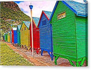 St James Beach Houses From Behind Canvas Print by Cliff C Morris Jr