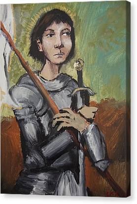 St. Joan Of Arc Canvas Print by Charlene Leger