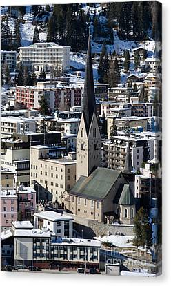 St Johann Davos Church St John Town Canvas Print by Andy Smy